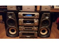 Technics 5 Disk Cd Surround Sound Stereo