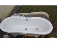 Bath large Acrylic type for sale inc taps