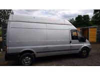 Ford Transit LWB Hi top. Silver. MOT January 28th 2018. Good Runner & Starts first time