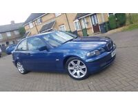 2002 (52) BMW 3 SERIES E46 316ti SE 3DR COMPACT 1.8L PETROL MANUAL MOT JULY 2017 SUPERB DRIVE