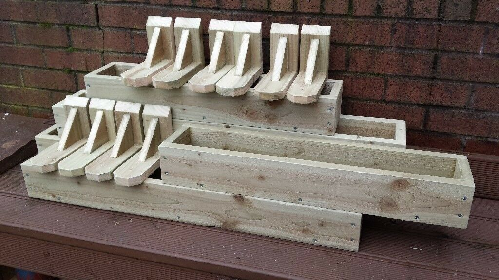 Treated Wooden Window Boxes Planters Full Range