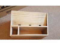 TK Maxx Wooden letter rack filing desk top cabinet box