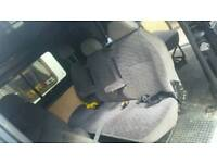 3 seater rear fold down van seat with belts