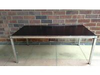 Coffee table sturdy in very good condition. 104cm wide 53cm deep 40cm hight.