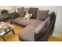 Black grey used L shape sofa, still in great condition