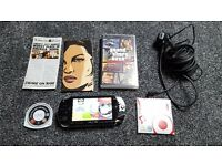 Sony PSP, PSP-1003, 8GB Memory, GTA Liberty City Stories, Emulators