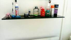 Excellent condition Black glass wall storage display shelf