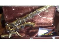 YAMAHA TENOR SAXOPHONE YTS 25 CASE/ SLING / MOUTHPIECE in ABSOLUTELY MINT CONDITION ++++