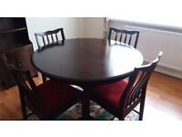 Stag Extending Dining Table and 5 Chairs