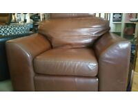 LEATHER ARMCHAIR - LARGE AND VERY COMFORTABLE.