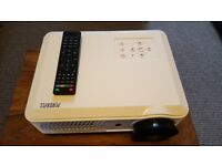 """LED Projector with built-in Freeview and 120"""" Remote Screen"""