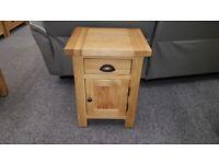Brand New BESP-OAK Boston Select Oak 1 Drawer 1 Door Bedside Tables £99 Each