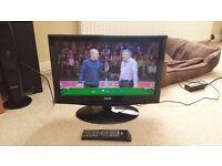 "LED Freeview TV 19"" DGM Digimate ETV -1981W 720p HDMI SCART VGA"