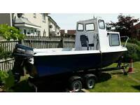 17ft fishing boat ready to go