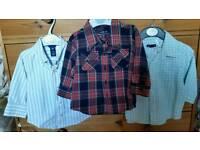 3x Boys Gap shirts (L/S), 6-12mths