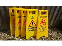 Wet Floor Hazard Signs x 5