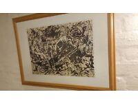 Jackson Pollock Abstract Print No 33