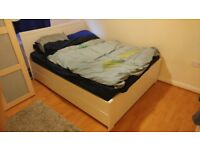 Ikea malm double bedframe with 2 drawers