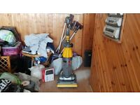 yellow Dyson DC07 All Floors Upright Hoover Vacuum Cleaner tools 1 week guarantee no texi