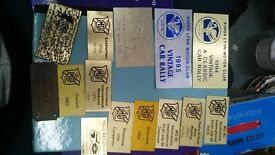Collectible Rally Plates - MG Brands Hatch Norfolk. Cadwell Silverstone Donnington metal