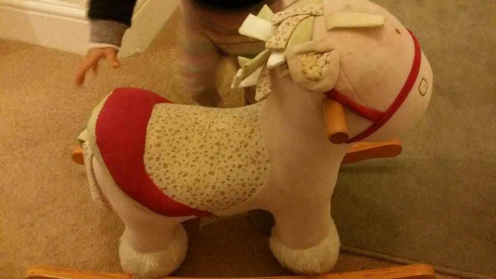 Mama's & Papa Toddler pink Rocking Horse for Sale