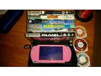 Psp with a games and videos