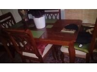 Table and 4. Chairs
