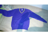 2 Purple jumpers size M