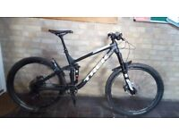 large frame mens full suspention mountain bike used 3 times Very good condition bargain