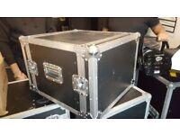 flightcase with slide racks