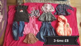 Girls clothes bundle, great condition 3-6m