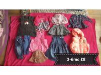 Girls clothes bundle, great condition 3-6m