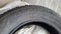 P215/65R17 Firestone Winterforce Studded Tires Used