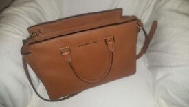 Selma Large Saffiano Leather Satchel Michael Kors