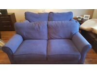 TWO Alstons sofas (Blue). 3 seater + 2 seater + original unused cushions. Non smoking. No Pets.