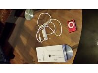 Apple iPod shuffle 2nd Generation Red (1 GB) plus original apple headphone new