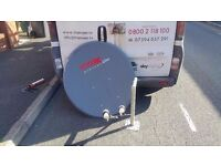 1 Meter Satellite Dish And Wall Bracket. Used but in excellent condition. NO OFFERS
