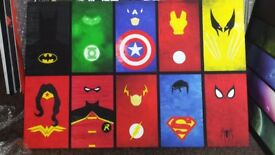 Canvas.marvel 20 x 30 batman.superman.kids