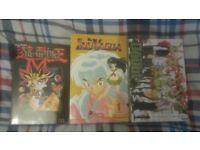 3 manga volumes(Yu-Gi-Oh!, Inuyasha, Doubt)