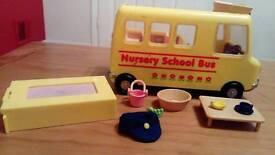 Sylvanian Families Primrose Nursery School Bus