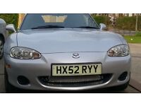 Silver Mazda MX5 1800cc Arizona special edition, low mileage.