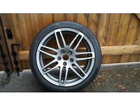 "Audi A3 S Line 18"" Alloy With Continental Tyre Good Condition."
