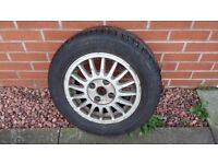 Audi Coupe mk 1 Alloy wheel and new tyre