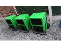 INDUSTRIAL DEHUMIDIFIERS DRY OUT DAMP PROPERTIES FAST LARGE AND SMALL MACHINES PORTABLE POWERFULL