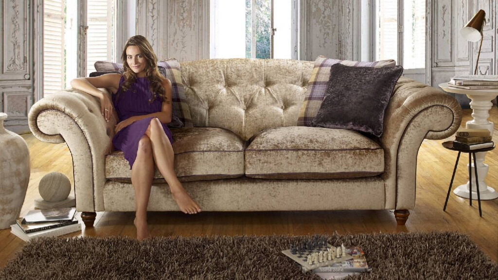 Stunning Crushed Velvet affect sofa - Sofology - Perfect Condition | in Christchurch, Dorset ...