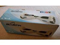 Bluefin hoverboard swegway, 6.5 inch wheels, Bluetooth, speaker, white, like new