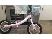 Pink balance bike hardly used