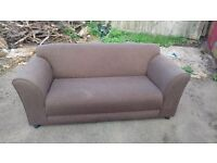 HOME Jenna Regular Sofa - Chocolate