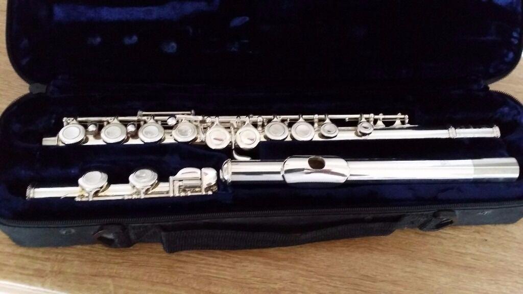 Trevor James Silver Flute with Original Case - (TJ10xiii) - Good Working order