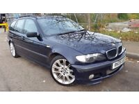 BMW 320D DIESEL ESTATE M SPORT 2005 1 FORMER OWNER DRIVES WELL FULL HISTORY FULL LEATHERS WOOD TRIM